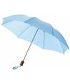 Kleine paraplu lichtblauw 56 cm