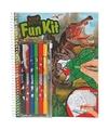 Kleurboek dinosaurus met stiften