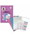 Knutselsetje glamour papier en stickers knutselen met jill