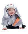 Konijn haas verkleed cape voor baby peuters
