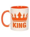 Koningsdag king mok beker oranje wit 300 ml