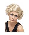 Korte blonde jaren 20 damespruik