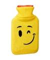 Kruik met gele hoes knipoog smiley 1 liter