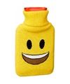 Kruik met gele hoes lachende smiley 1 liter