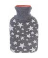 Kruik met grijze hoes witte sterren 500 ml