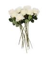 Kunstbloem roos simone wit 45 cm 10 stuks
