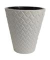 Kunststof bloempot makata wit 30 cm
