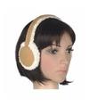 Lammy oorwarmers beige voor dames