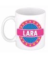 Lara naam koffie mok beker 300 ml