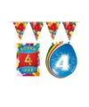 Leeftijd feestartikelen 4 jaar voordeel pakket
