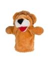 Leeuw handpop pluche 23 cm