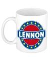 Lennon naam koffie mok beker 300 ml