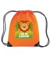 Leo de leeuw rugtas gymtas oranje voor kinderen