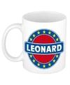 Leonard naam koffie mok beker 300 ml