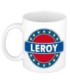 Leroy naam koffie mok beker 300 ml
