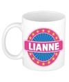 Lianne naam koffie mok beker 300 ml