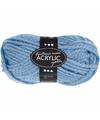 Licht blauw maxi acryl garen 35 meter