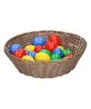 Licht bruin paasmandje met eieren 25 cm