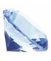 Lichtblauwe nep diamant 4 cm van glas