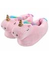 Lichtroze eenhoorn pantoffels voor meisjes