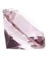 Lichtroze nep diamant 4 cm van glas