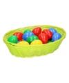 Lime paasmandje met eieren 20 cm