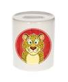 Luipaarden spaarpot voor kinderen 9 cm