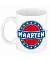 Maarten naam koffie mok beker 300 ml