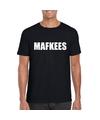 Mafkees tekst t shirt zwart heren