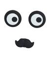 Magneten setje van 3 stuks ogen met snor