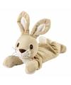 Magnetron warmte knuffel liggende konijn