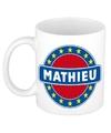 Mathieu naam koffie mok beker 300 ml