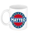 Matteo naam koffie mok beker 300 ml