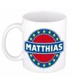 Matthias naam koffie mok beker 300 ml