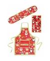 Merry christmas keukentextiel set 3 delig