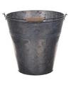 Metalen emmer grijs 24 liter