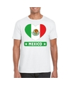 Mexico hart vlag t shirt wit heren