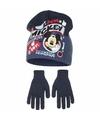 Mickey mouse winterset blauw voor jongens 2 delig