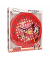 Minnie mouse wandklok 3d rood