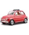 Modelauto fiat 500 l 1968 rood 1 24