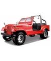 Modelauto jeep wrangler cabrio 1 24