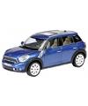 Modelauto mini countryman blauw 1 24
