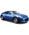 Modelauto nissan 370z blauw 1 24