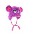 Monster muts met oren paars voor meisjes