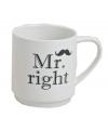 Mr Right porseleinen beker