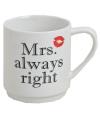Mrs Always Right porseleinen beker