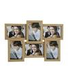 Multi fotolijst bruin 44 x 30 cm