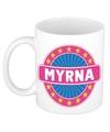 Myrna naam koffie mok beker 300 ml