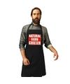 Natrural born griller barbecueschort keukenschort zwart heren