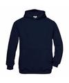 Navy blauwe katoenmix sweater met capuchon voor j